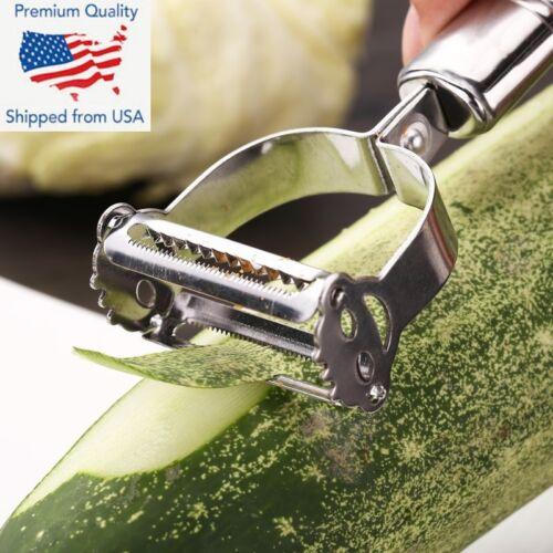 Vegetable Stainless Steel Potato Peeler Popular Parer Slicer Julienne Cutter