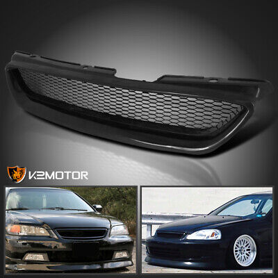 Honda Accord Front Hood (For 1998-2002 Honda Accord 2Dr Metal Mesh Front Hood Grill Grille ABS)