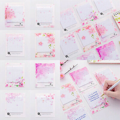Cute Japanese Sakura Self-adhesive Notes Guest Book Remarks Sticky Paper 119cm