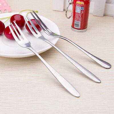 Fashion Stainless Steel Dessert Fork Kitchen Snacks Cake Fruit Fork 13cm Long