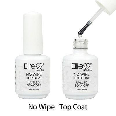 Elite99 Soak Off No Wipe Top Coat UV LED Gel Nail Polish Nail Art Sealer 15ml