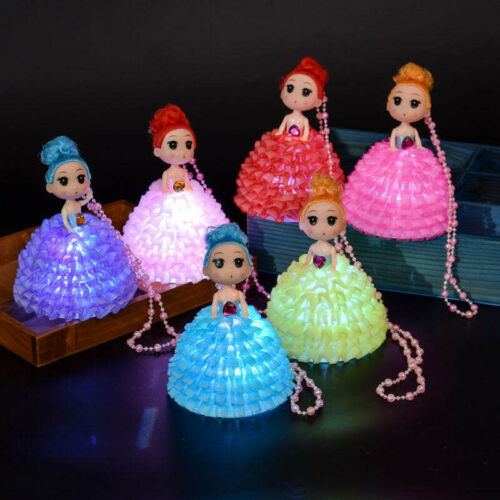 4 Light Up Princess Baby Doll LED Light up Outfit Princess Necklace Ornament