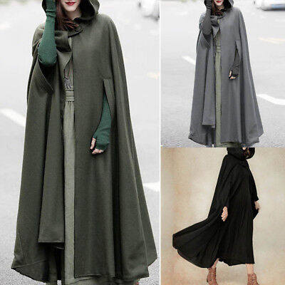 ZANZEA Women Trench Coat Open Front Cardigan Jacket Coat Cape Cloak Poncho Plus - Womens Capes