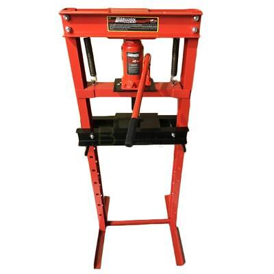 (Hydraulic Shop Press Floor Shop Equipment 12 Ton Jack Stand H Frame Red)