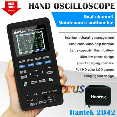 Hantek 2d42 2 Channel 3in1 Handheld Oscilloscope Dmm Multimeter Tester Us Stock