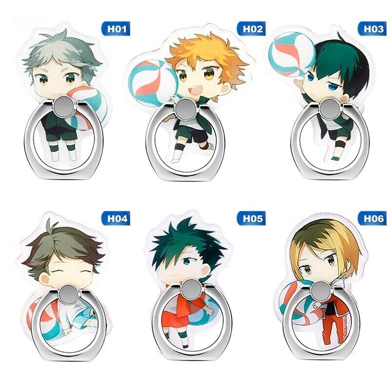 haikyuu anime peripheral phone holder ring buckle