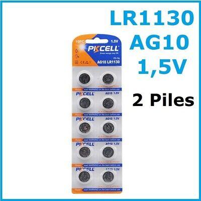 2 PILES LR1130 / AG10 / LR54 / 189 / SR1130W /...