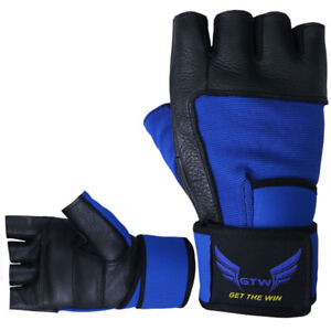 Weight Lifting Gloves with Long Wrist Strap for Better Fit