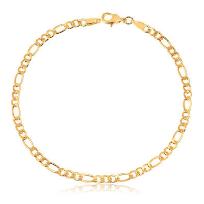 18K Gold Plated Gold Figaro-Link Anklet