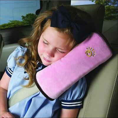 kind Sicherheitsgurt Auto Schulterpolster Schlafkissen Kopfschutz Anschnallgurt