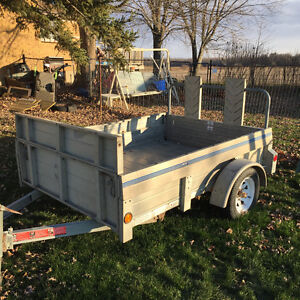 Aluminum Utility trailer 5x7, expands to 5x9