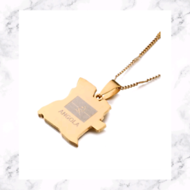Gold Plated Angola Pendant Necklace
