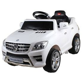 LICENSED ORIGINAL MERCEDES ML350 RIDE ON TOY CAR WITH REMOTE - BEST LOOKING - WITH MP3 AND REMOTE