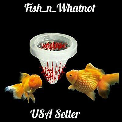 Aquarium Basket Feeder Fish Food Live Worm Bloodworm Cone -USA Seller-