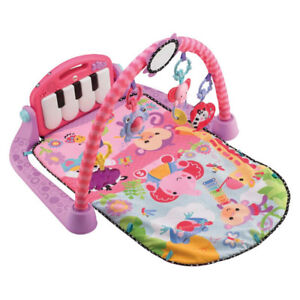 Kick and Play Gym Baby Piano Music Playmat Pink Activity Toy
