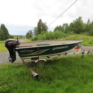 2003 Legend Deep and Wide with 25 hp Mercury