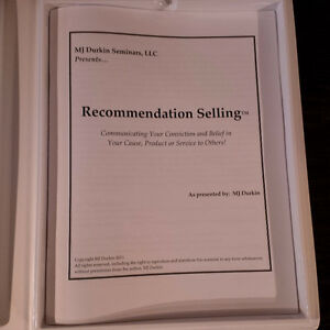 RECOMMENDATION SELLING™ Relationship Marketing (NEW) MJ Durkin Gatineau Ottawa / Gatineau Area image 4