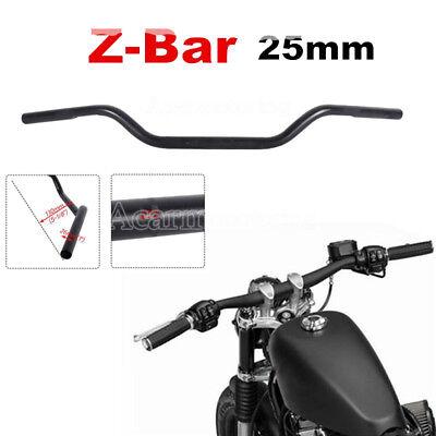 ".Black 1"" Inch Drag Bars Handlebars Fit Harley Sportster Dyna XL Softail Chopper"