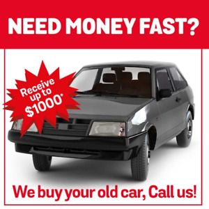We offer up to $ 1000 *CASH for your old car!