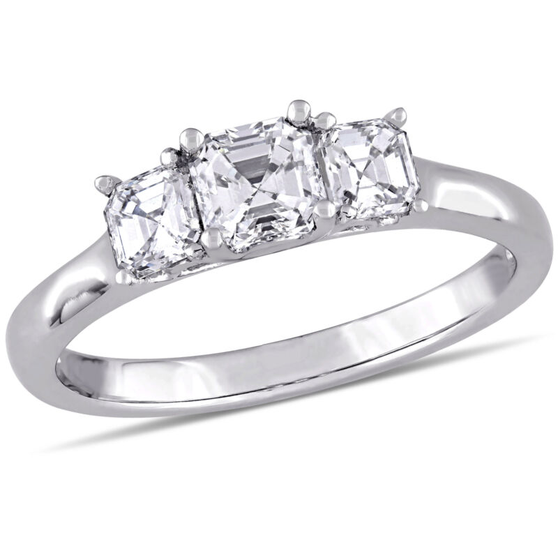 Amour 1 CT TW Diamond 3-Stone Engagement Ring in 14k White Gold