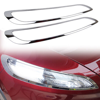 Fit For Jeep Cherokee 14-18 Chrome Front Head Light Lamp Cover Headlight Trim - Jeep Cherokee Chrome Headlight Trim