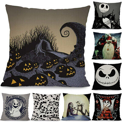 Nightmare Before Christmas Decorative Cushion Cover Ghost Head Waist Pollow Case (Nightmare Before Christmas Cushion)