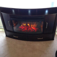 Electric fireplace/ entertainment unit