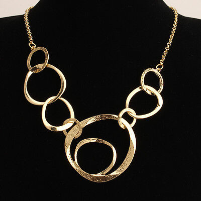 Fashion Jewelry Crystal Chunky Charm Chain Women Pendant Necklace Bib Choker HOT