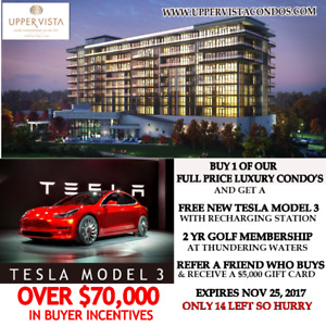 Free Tesla Model 3 Car with Penthouse condo from owner