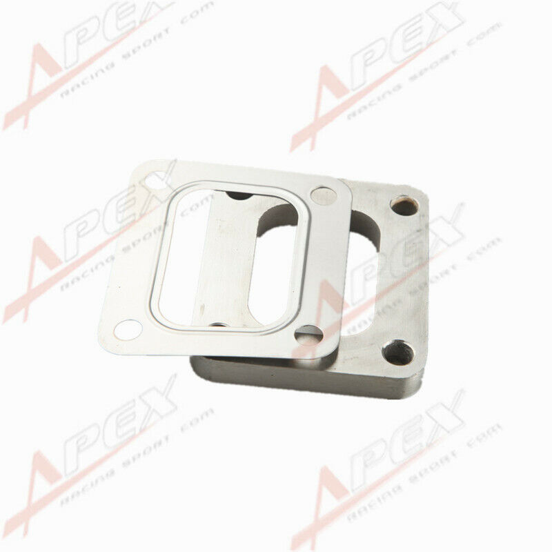 """T4 Undivided SS304 Turbo Inlet Weld Flange 1//2/"""" Thick SS304 Gasket"""