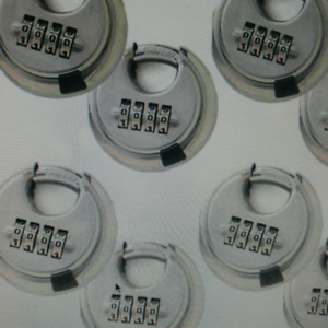 4 Digit Combination Disc Padlocks Stainless Steel