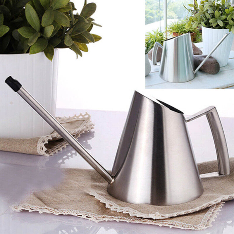 30oz Small Decorative Indoor Stainless Steel Watering Can wi