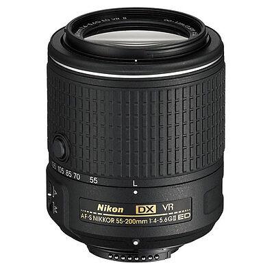 Nikon AF-S DX NIKKOR 55-200MM f/4-5.6G ED VR II Lens Brand New (White Box)