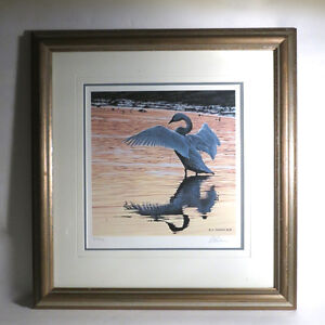 Ron R.S, Parker Numbered Signed Limited Edition Trumpeter Swan 8