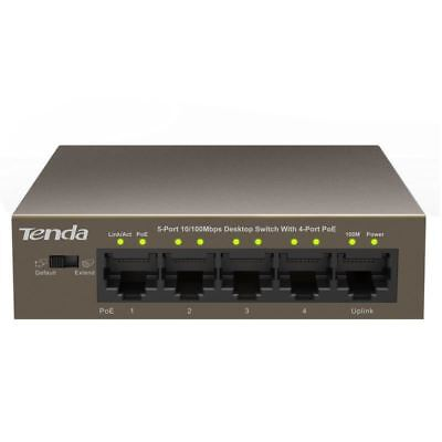 Tenda TEF1105P-4-63W 5-Port 10/100Mbps Desktop PoE Switch with 4 Port POE