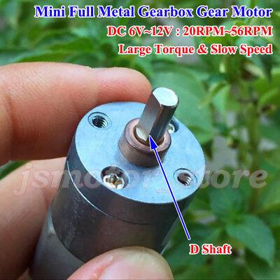 Dc 6v 9v 12v Large Torque 20mm Mini Micro Metal Gearbox Gear Motor Diy Robot Car