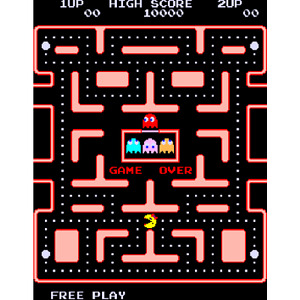 Ms. Pac-Man original arcade PCB w/ Speedup Chips (Working)