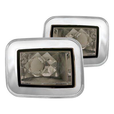 Hummer H2 Corner Lights - For Hummer H2 03-08 IPCW Chrome/Platinum Smoke Crystal Turn Signal/Corner Lights