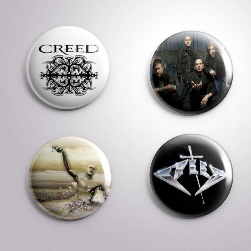 4 CREED - Pinbacks Badge Button Pin 25mm 1