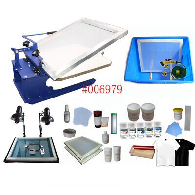 Monochrome T-shirt Screen Printing Complete Set Materials Kit Top-grade Us