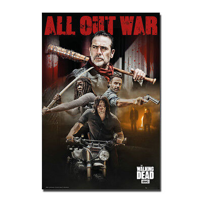 The Walking Dead Season 8 Art Canvas Poster Print 8x12 24x36 inch