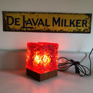 Vintage Mid Century Chipped Glass Lamp by Scandesign Canada