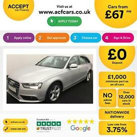 Audi A4 Avant 2.0TDI ( 143ps ) Multitronic 2013MY SE Technik FROM £67 PER WEEK !