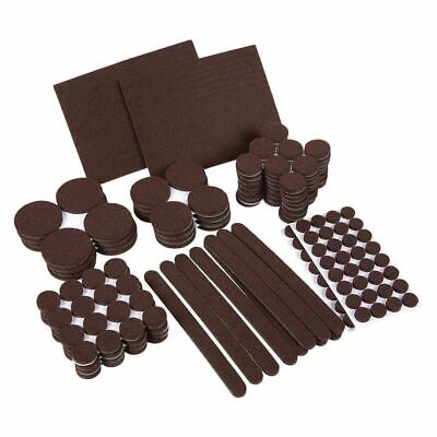 236-Pack Brown Adhesive Furniture Felt Pads Set for Chair Legs, Assorted Sizes