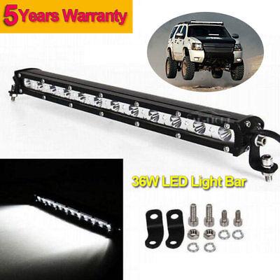 36W CREE LED Light Bar Work Driving Lamp Ultra Slim Spot Off-road Truck SUV ATV