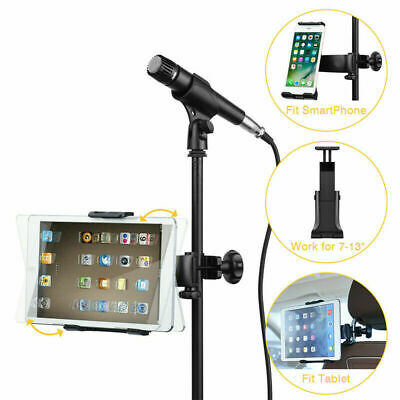Moukey Mmsph-1 Mic Stand Tablet Holder iPad Mount Phone Holder Microphone Stand