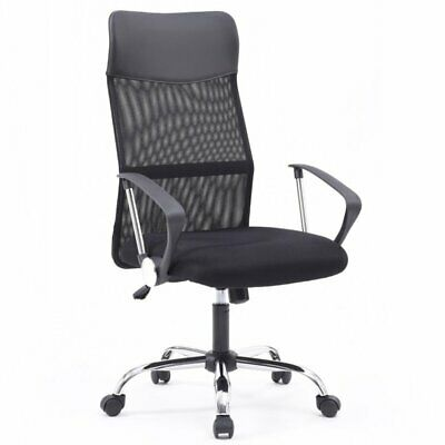 Hodedah Mesh High Back Adjustable Height Swiveling Executive Chair
