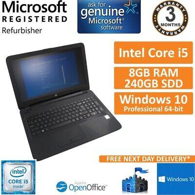 "Laptop Windows - HP 250 G4 Intel i5-6200U @ 2.30GHz 8GB 240GB SSD Windows 10 Pro 15.6"" Laptop"