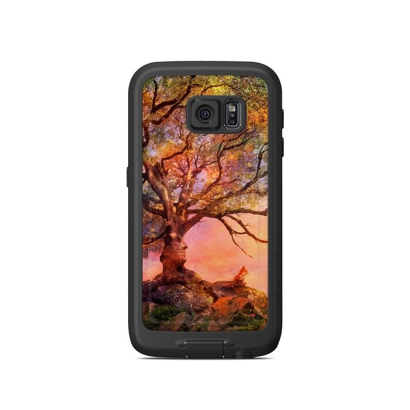 Skin for LifeProof Galaxy S6 FRE Case - Fox Sunset - Sticker Decal