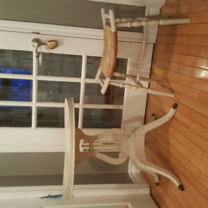 Antique Table and stool refinished with chalk paint & wax